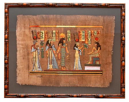 Папирус в рамке своими руками